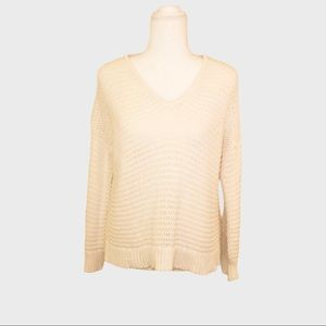 Madewell cable knit cream pullover sweater  XXS
